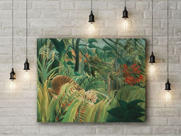 Henri Rousseau: Tiger in a Tropical Storm. Fine Art Canvas.